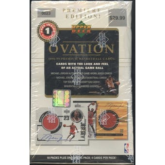 1998/99 Upper Deck Ovation Basketball Blaster Box
