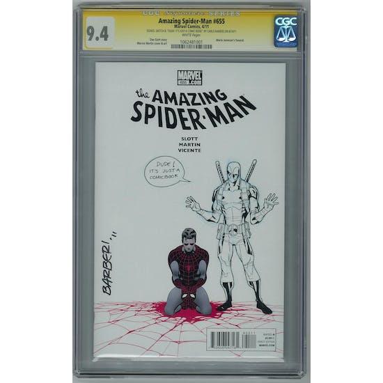 Amazing Spider-Man #655 CGC 9.4 (W) Signed & Sketch Carlo Barberi *1062481001* SIG - (Hit Parade Inventory)