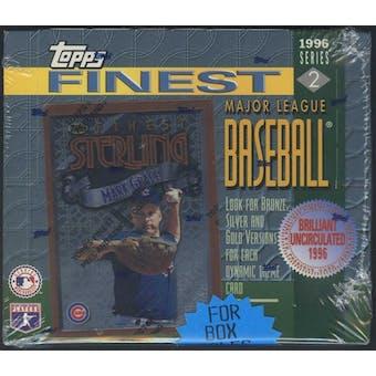1996 Topps Finest Series 2 Baseball Retail Box