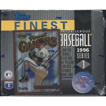 1996 Topps Finest Series 1 Baseball Retail Box