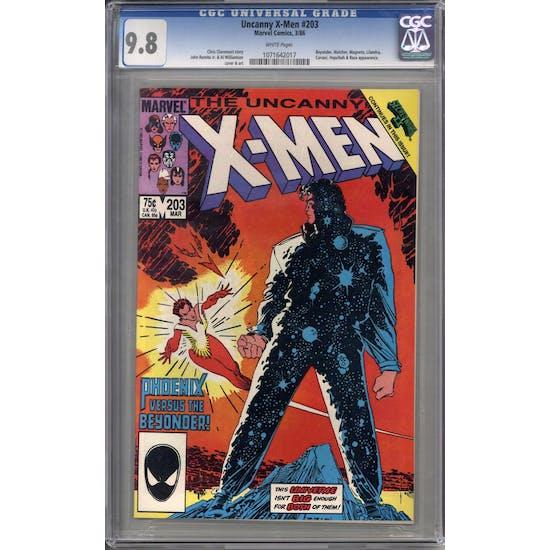 Uncanny X-Men #203 CGC 9.8 (W) *1071642017*