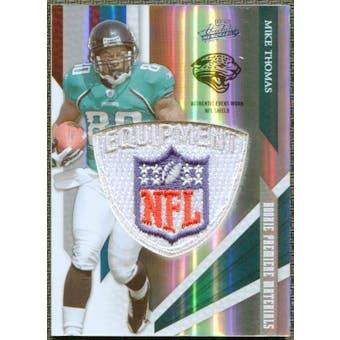 2009 Absolute Memorabilia Rookie Premiere Materials NFL Shield #231 Mike Thomas 2/5