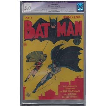 Batman #1 CGC 5.0 (OW) Extensive Restoration (P) *1076258001*