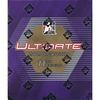 2011/12 ITG Ultimate Memorabilia 11th Edition Hockey Hobby Box
