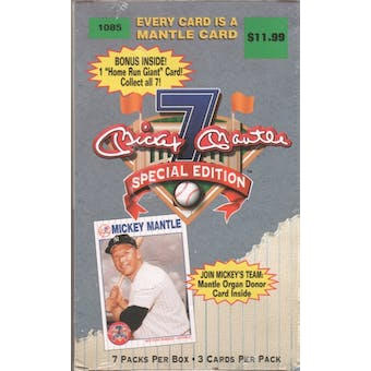 1997 Mickey Mantle Properties Special Edition Baseball Blaster Box