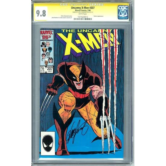 Uncanny X-Men #207 CGC 9.8 Chris Claremont Signature Series (W) *1077629013*