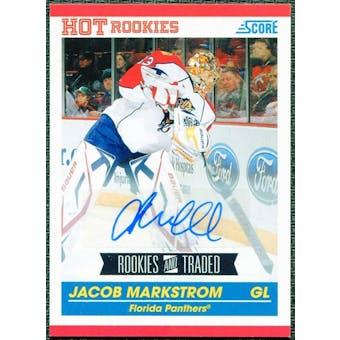 2010/11 Score Signatures #609 Jacob Markstrom RC Auto SP