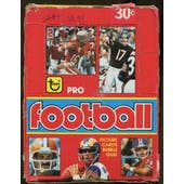 1981 Topps Football Partial 31 Pack Wax Box (In 1979 Wrappers & Box)