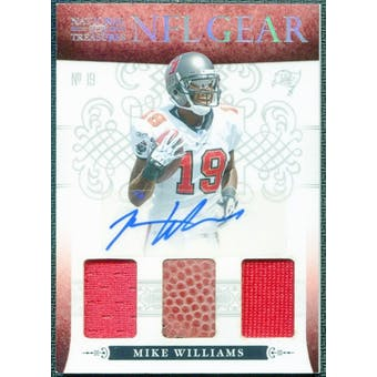 2010 Playoff National Treasures NFL Gear Signatures Jersey Football #15 Mike Williams 3/10