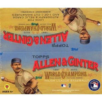 2010 Topps Allen & Ginter Baseball 24-Pack Box