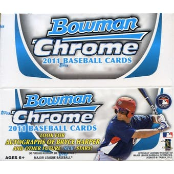 2011 Bowman Chrome Baseball 24-Pack Box
