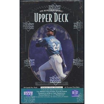 1996 Upper Deck Series 1 Baseball Retail 28-Pack Box