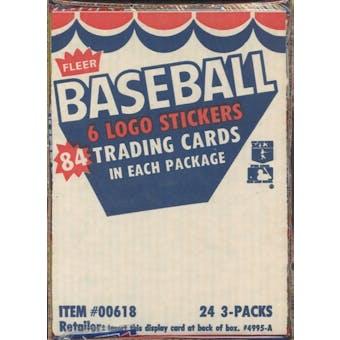 1983 Fleer Baseball Rack Box (Gwynn,Sandberg,Boggs Rookies!)