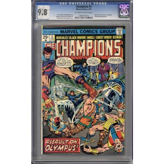 Champions #3 CGC 9.8 (OW-W) *1096476015*