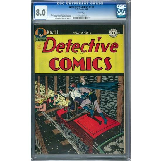 Detective Comics #111 CGC 8.0 (W) *1096892003*