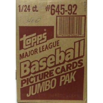 1992 Topps Baseball Jumbo Case Box