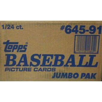 1991 Topps Baseball Jumbo Case Box