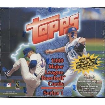 1999 Topps Series 1 Baseball 20 Pack Box