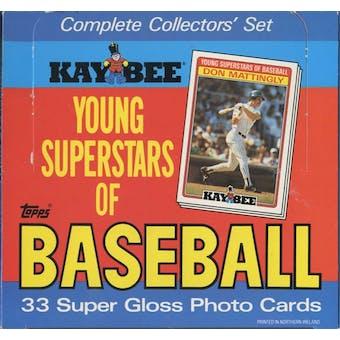 1986 Topps Kay Bee Baseball Factory Set Box