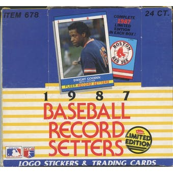 1987 Fleer Record Setters Baseball Factory Set Box