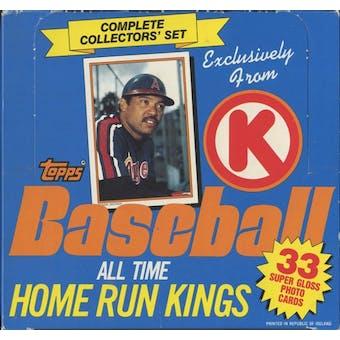 1985 Topps Circle K All Time Home Run Kings Baseball Factory Set Box