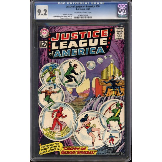 Justice League of America #16 CGC 9.2 (OW-W) *1097402015*