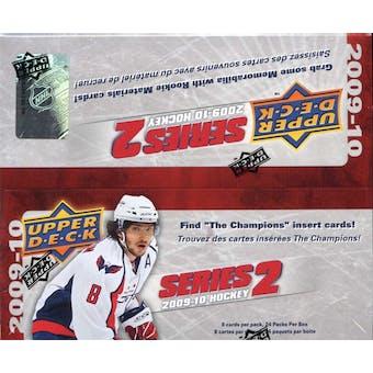 2009/10 Upper Deck Series 2 Hockey 24-Pack Box