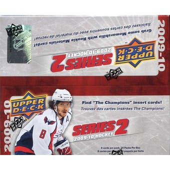 2009/10 Upper Deck Series 2 Hockey 24-Pack Box