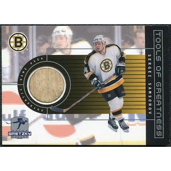 1999/00 Upper Deck Wayne Gretzky Hockey Tools of Greatness #TGSS Sergei Samsonov