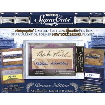 2011 TriStar SignaCuts Bronx Edition Baseball Hobby Box