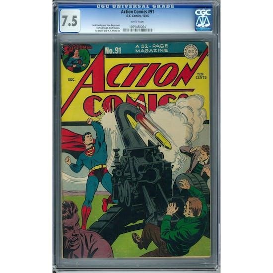 Action Comics #91 CGC 7.5 (W) *1099480004*