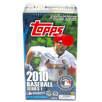 2010 Topps Series 1 Baseball 10-Pack Box (1 Patch Card Per Box!)