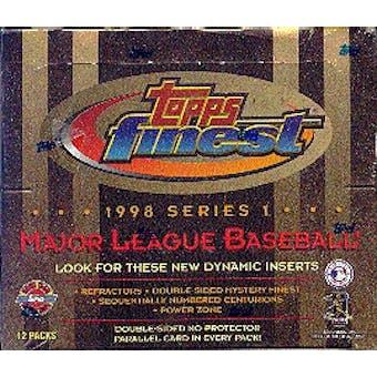 1998 Topps Finest Series 1 Baseball Jumbo Box