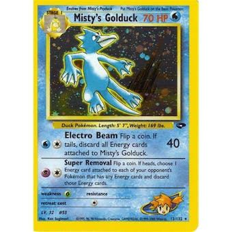 Pokemon Gym Challenge Single Misty's Golduck 12/132 - NEAR MINT (NM)