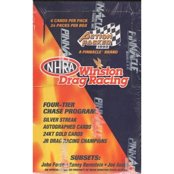 1995 Pinnacle Action Packed NHRA Winston Drag Racing Hobby Box