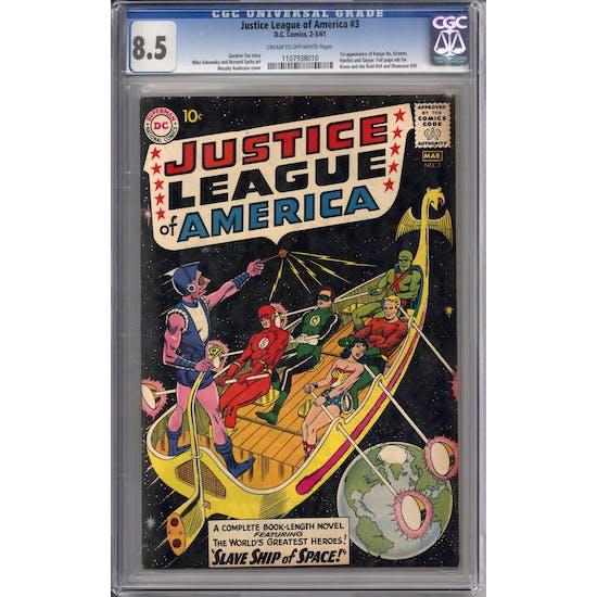 Justice League of America #3 CGC 8.5 (C-OW) *1107938010*