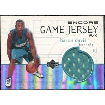 1999/00 Upper Deck Encore Game Jerseys #BDJ Baron Davis