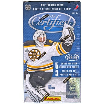 2011/12 Panini Certified Hockey 3-Pack Box