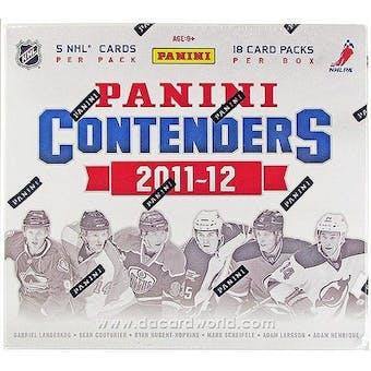 2011/12 Panini Contenders Hockey 5-Box- DACW Live 30 Team Random Break #1
