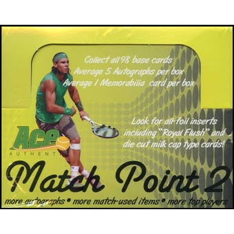 2011 Ace Authentic Match Point Tennis Hobby Box