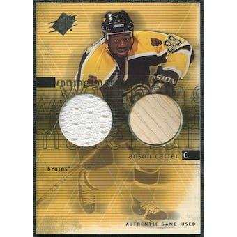 2000/01 Upper Deck SPx Winning Materials #AC Anson Carter SP Jersey Stick