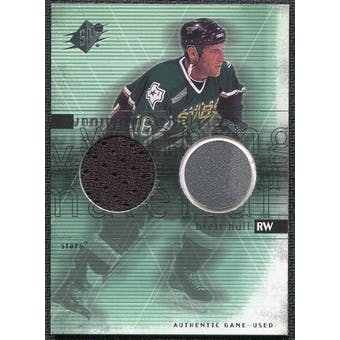 2000/01 Upper Deck SPx Winning Materials #BH Brett Hull SP Jersey Stick