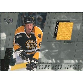 2000/01 Upper Deck Game Jerseys #JT Joe Thornton Series 1