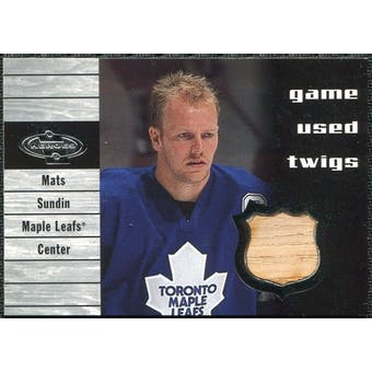 2000/01 Upper Deck UD Heroes Game-Used Twigs #TMS Mats Sundin