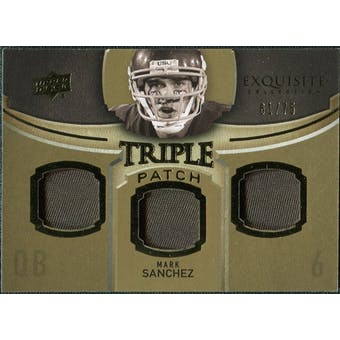 2010 Upper Deck Exquisite Collection Single Player Triple Patch #ETPMS Mark Sanchez /75