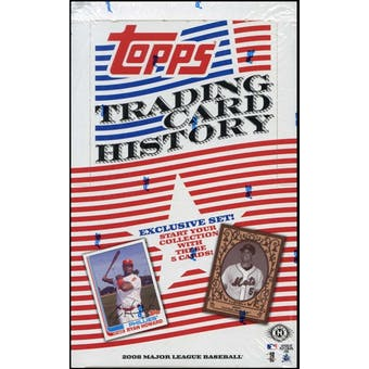 2008 Topps Trading Card History Baseball Hobby Box