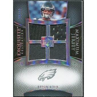 2007 Upper Deck Exquisite Collection Maximum Jersey Silver Spectrum #KK Kevin Kolb 10/15