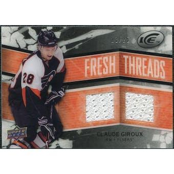 2008/09 Upper Deck Ice Fresh Threads Black Parallel #FTGI Claude Giroux 23/25