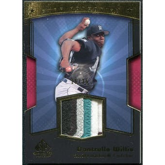 2004 Upper Deck SP Game Used Patch Star Potential #DW0 Dontrelle Willis Arm Up 16/35