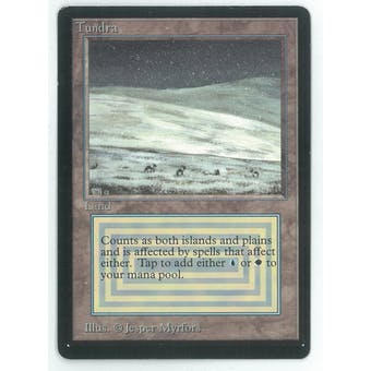 Magic the Gathering Beta Single Tundra - SLIGHT PLAY (SP)